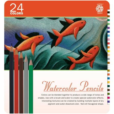 Pentalic Watercolor Pencil Tin 24 Color Set