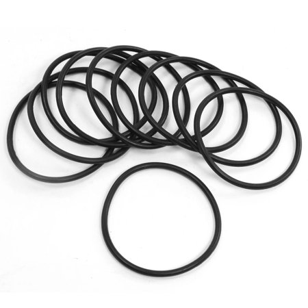 Unique Bargains 10Pcs 58mm OD 3.1mm Thickness Poly Urethane O Ring Oil Seal Gaskets (Urethane Ring)