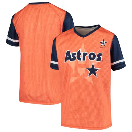 finest selection 2550f 02989 Houston Astros Youth Cooperstown Collection Play Hard V-Neck Jersey T-Shirt  - Orange