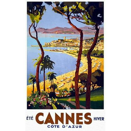 Cannes Summer Winter Gold Coast Travel Canvas Art -  (18 x 24) - Gold Corset