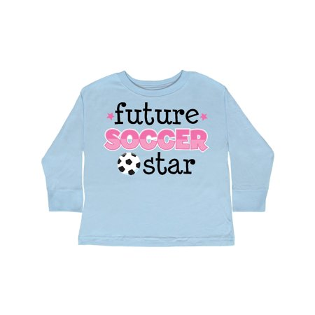 Future Soccer Star Girls Toddler Long Sleeve T-Shirt