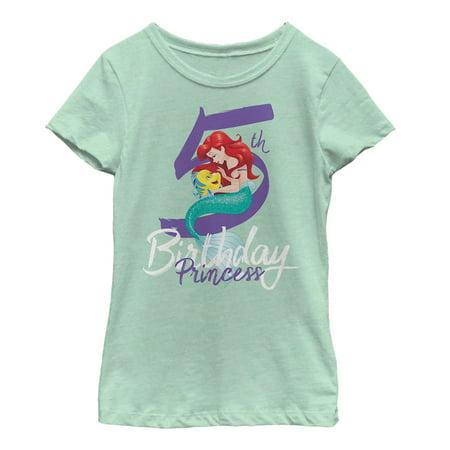 The Little Mermaid Girls' 5th Birthday T-Shirt