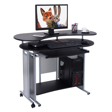 Costway Expandable L Shaped Computer Desk PC Table Corner Workstation Home Of