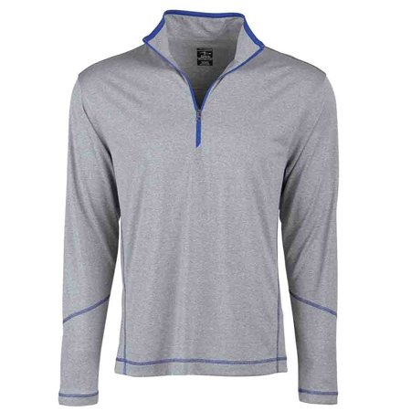 Page & Tuttle Mens Coverstitch Heather Mock Neck Golf Athletic Outerwear Pullover - ()