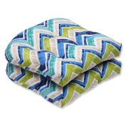 Pillow Perfect Outdoor/ Indoor Marquesa Marine Wicker Seat Cushion (Set of 2)