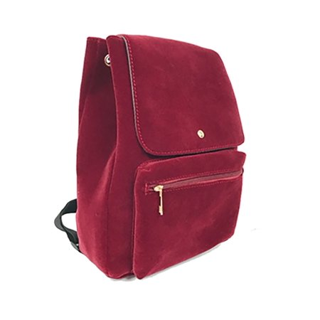 Backpack Travel Overnight Tote Duffel Purse Velvet Red (Red Tote Bag)