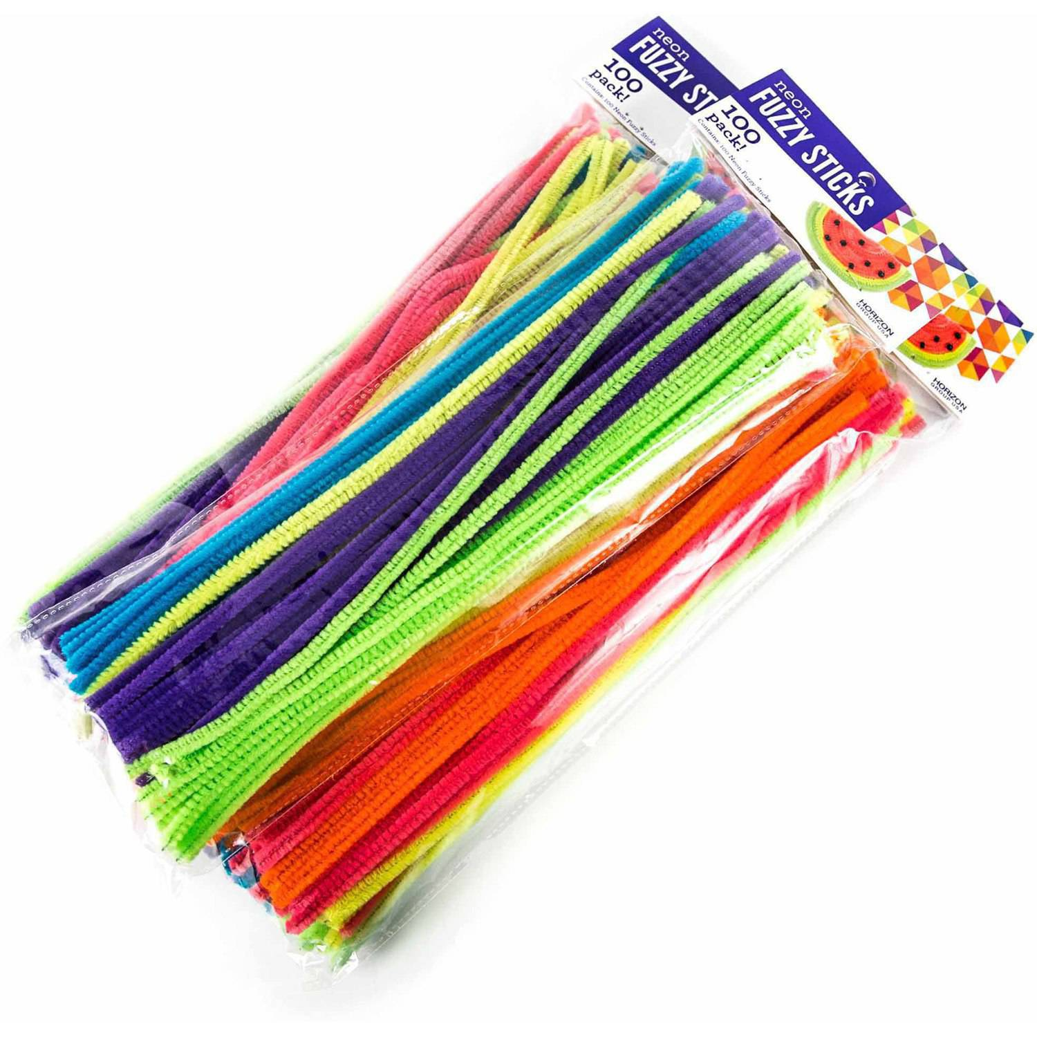 Horizon Group USA Neon Fuzzy Sticks, 3pk