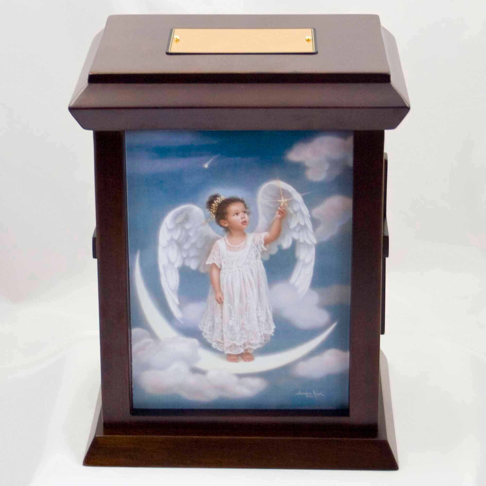 Sandra Kuck's Starlight Angel Wood Urn