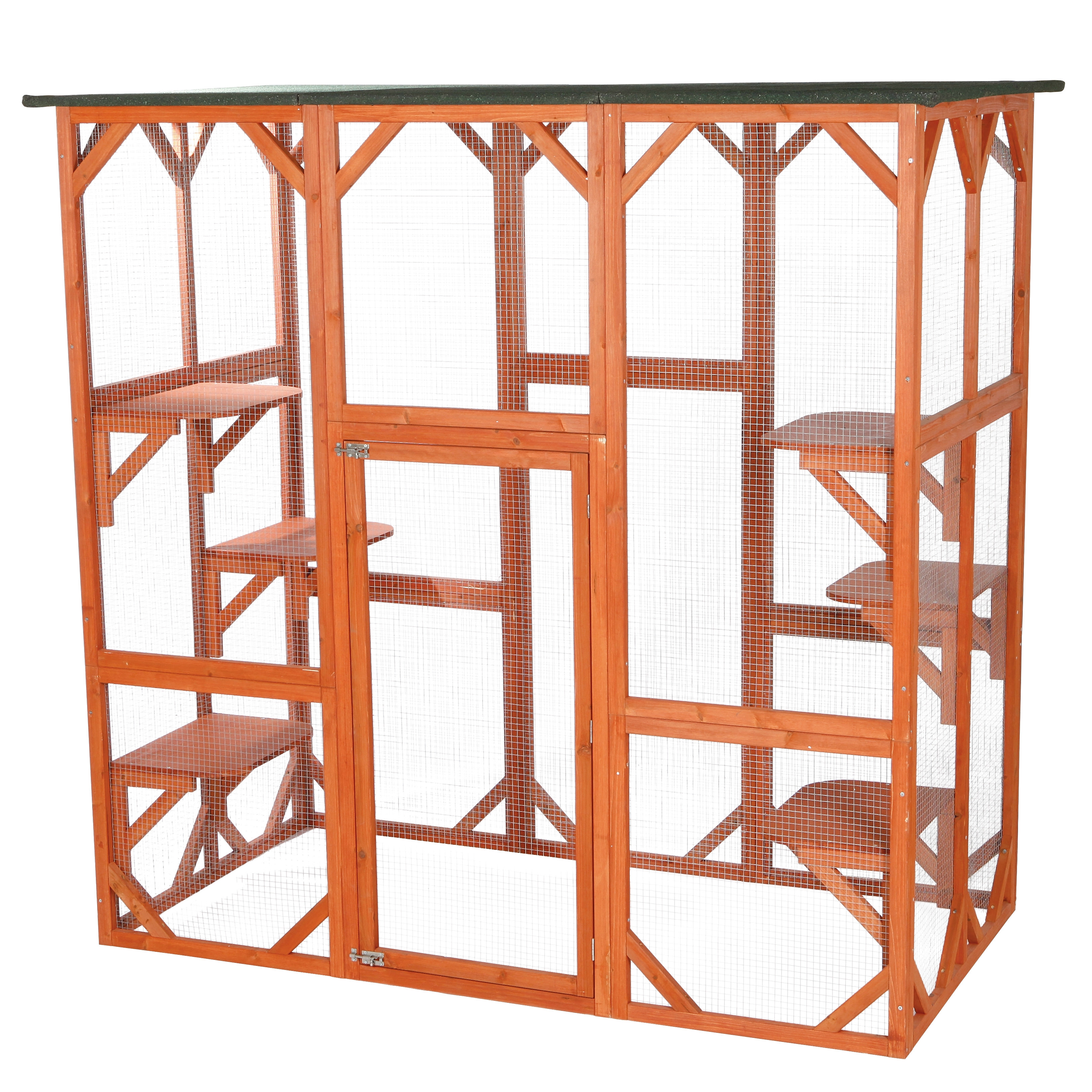 Trixie Wooden Outdoor Cat Sanctuary, 70.75 x 70.75 x 38.50 In