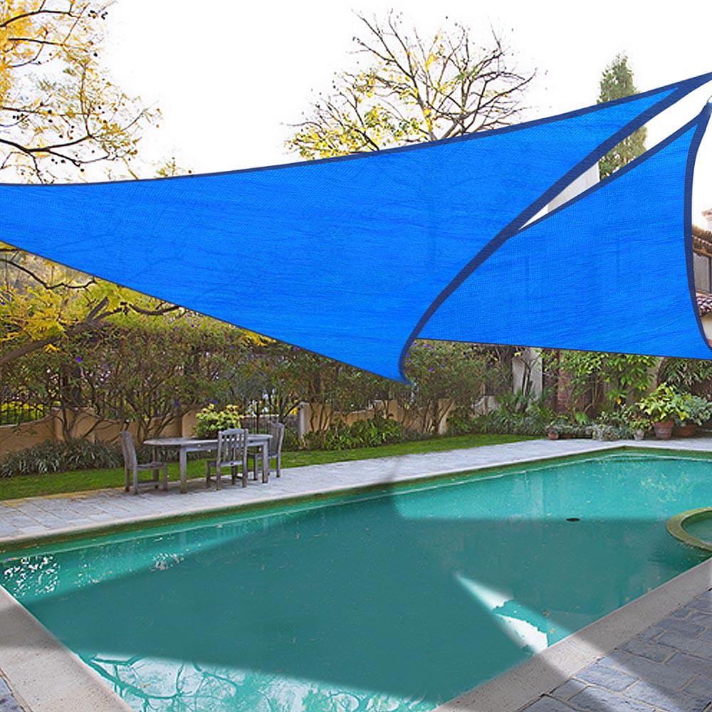 2x 11.5' Triangle Sun Shade Sail Patio Deck Beach Garden Yard Outdoor Canopy Cover UV Blocking (Blue)