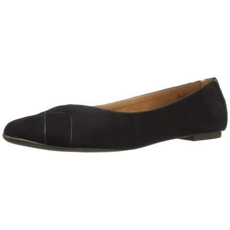 Bc Footwear Women's Petite V-Suede Ballet Flat