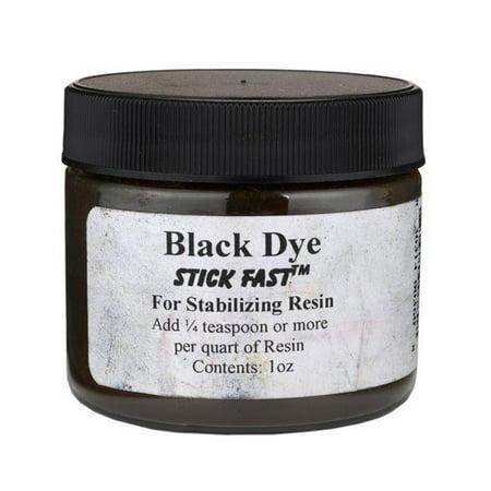 Stick Fast Black Powder Dye for Stabilizing Resin