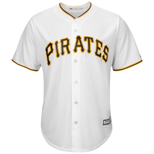 Pittsburgh Pirates Majestic Youth Official Cool Base Jersey - White