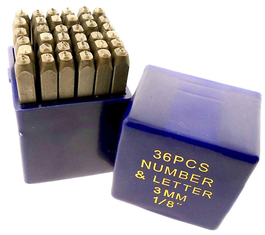 "36pc 5//64/"" NUMBER /& LETTER PUNCH SET 2mm"