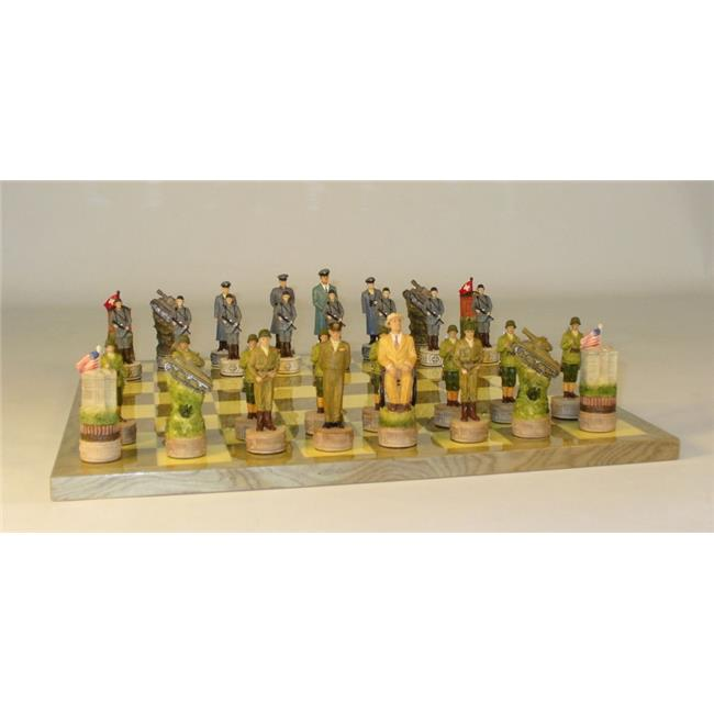 WorldWise Imports WWII USA vs. Germany Themed Chess Set w...