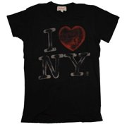 I Love New York Junk Food Originals Vintage Style Faded Soft Juniors T-Shirt Tee