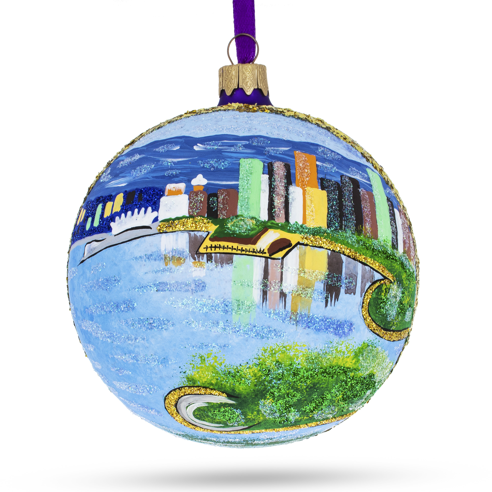 Stanley Park Glass Ball Christmas Ornament 4 Inches Canada BestPysanky Vancouver