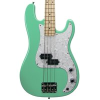 Sawtooth EP Series Electric Bass Guitar, Surf Green w/ White Pearloid Pickguard