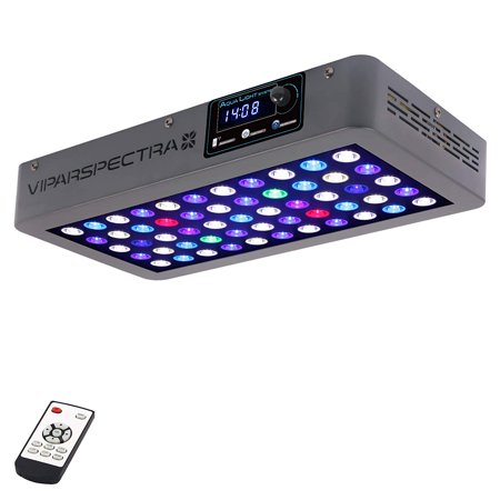VIPARSPECTRA Timer Control 165W LED Aquarium Light Dimmable Full Spectrum for Coral Reef Grow Fish Tank (Growing Fish)