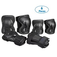 Deals on QF BMX Bike Knee Pads and Elbow Pads 6pc.