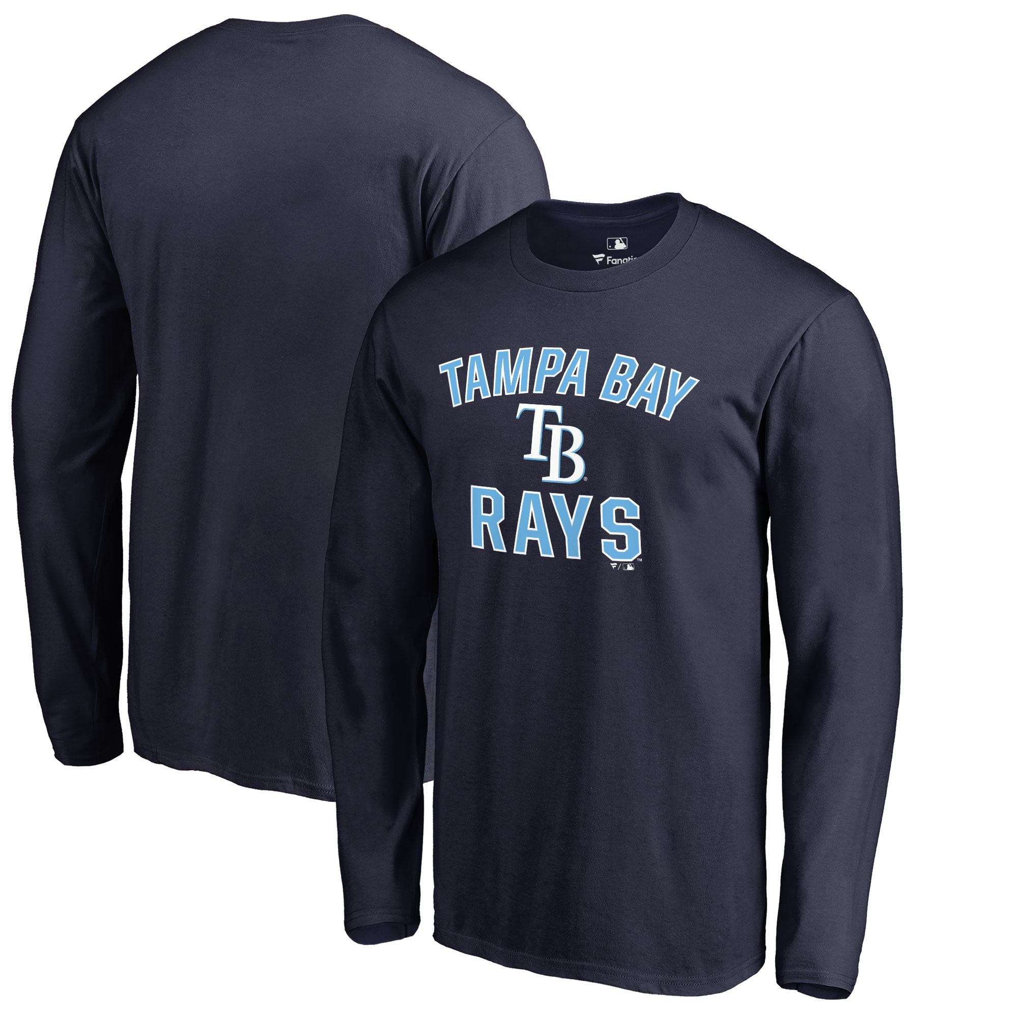 Tampa Bay Rays Victory Arch Big & Tall Long Sleeve T-Shirt - Navy