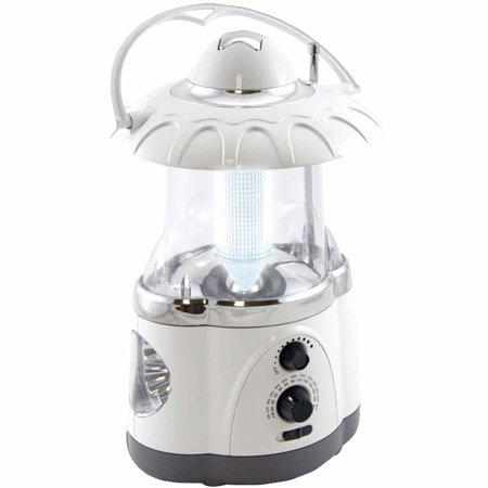 Northpoint 12-LED White Lantern with 4-LED Flashlight and AM/FM Radio (Novelty Flashlights)