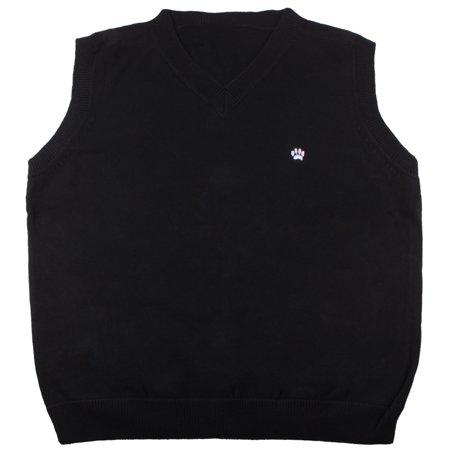 Enimay Kids School Uniform Knit Sweater V-Neck Vest Argyle Pattern Pullover 82320A Black 4 Years