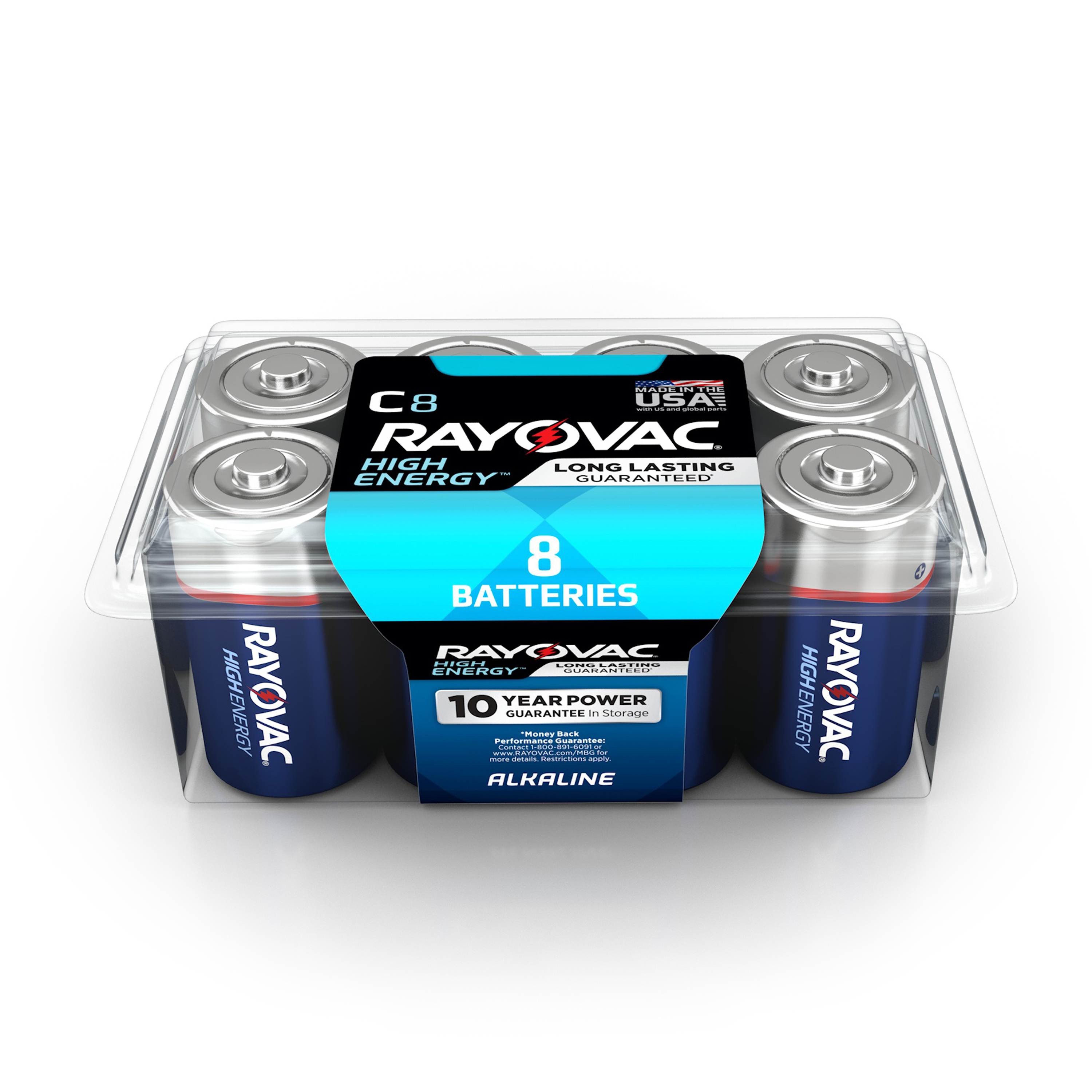 Rayovac High Energy Alkaline C Batteries, 8 Count