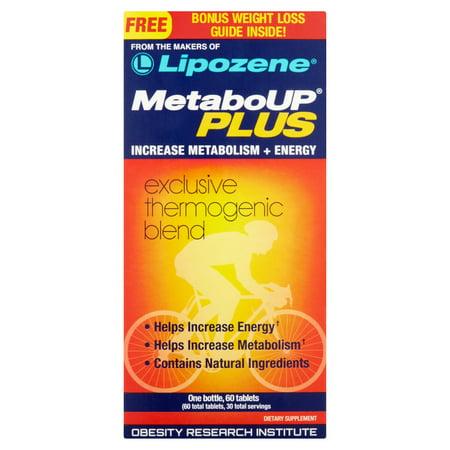 MetaboUP PLUS thermogénique perte de poids du supplément alimentaire Comprimés, 60 count