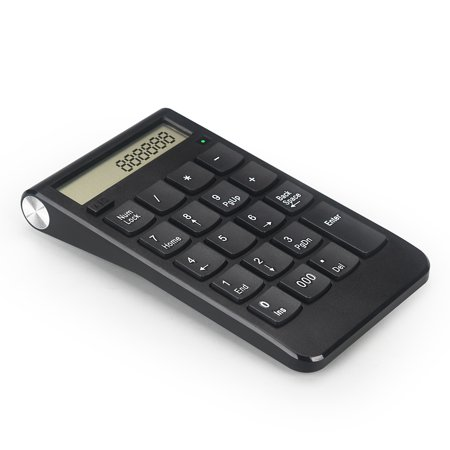 19 Keys Number Keyboard 2.4G Digital Display Rechargeable Wireless Keypad - image 3 of 7