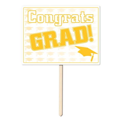 The Beistle Company Graduation Congrat Grad Garden Sign (Set of 6)