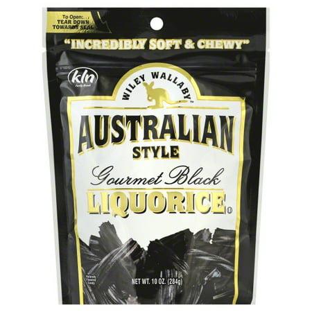 Wiley Wallaby Australian Style Gourmet Black Liquorice, 10 Oz. (Black Licorice Caramel)