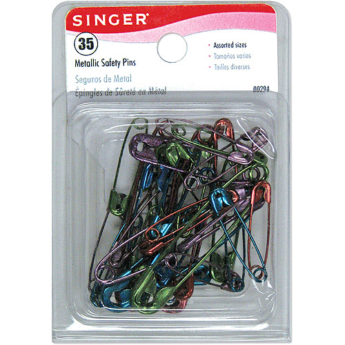 Singer Metallic Coated Safety Pins