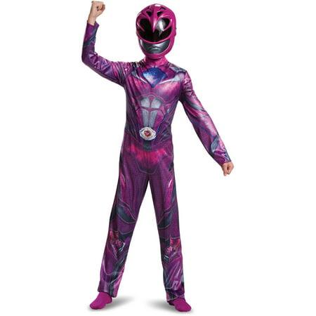 Power Rangers Super Megaforce Costumes (Power Rangers Pink Ranger Classic Child Halloween Costume, One Size, L)