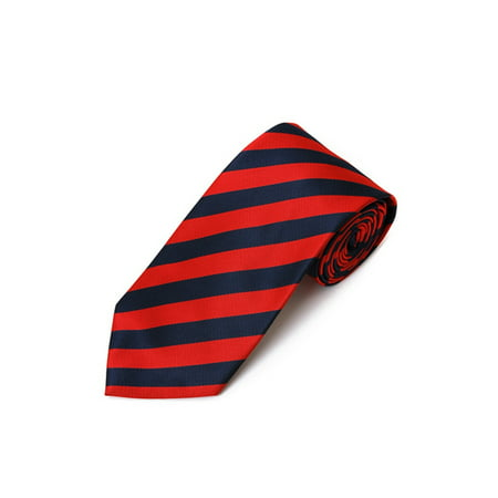 College Striped Colored Woven Tie (Mens Striped Woven Tie)