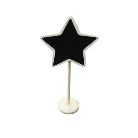 Quasimoon Star Standing Wedding Chalkboard Sign Table Number Holder by PaperLanternStore