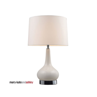 Table Lamps 1 Light With White and Chrome Ceramic Medium Base 18 inch 9.5 Watts