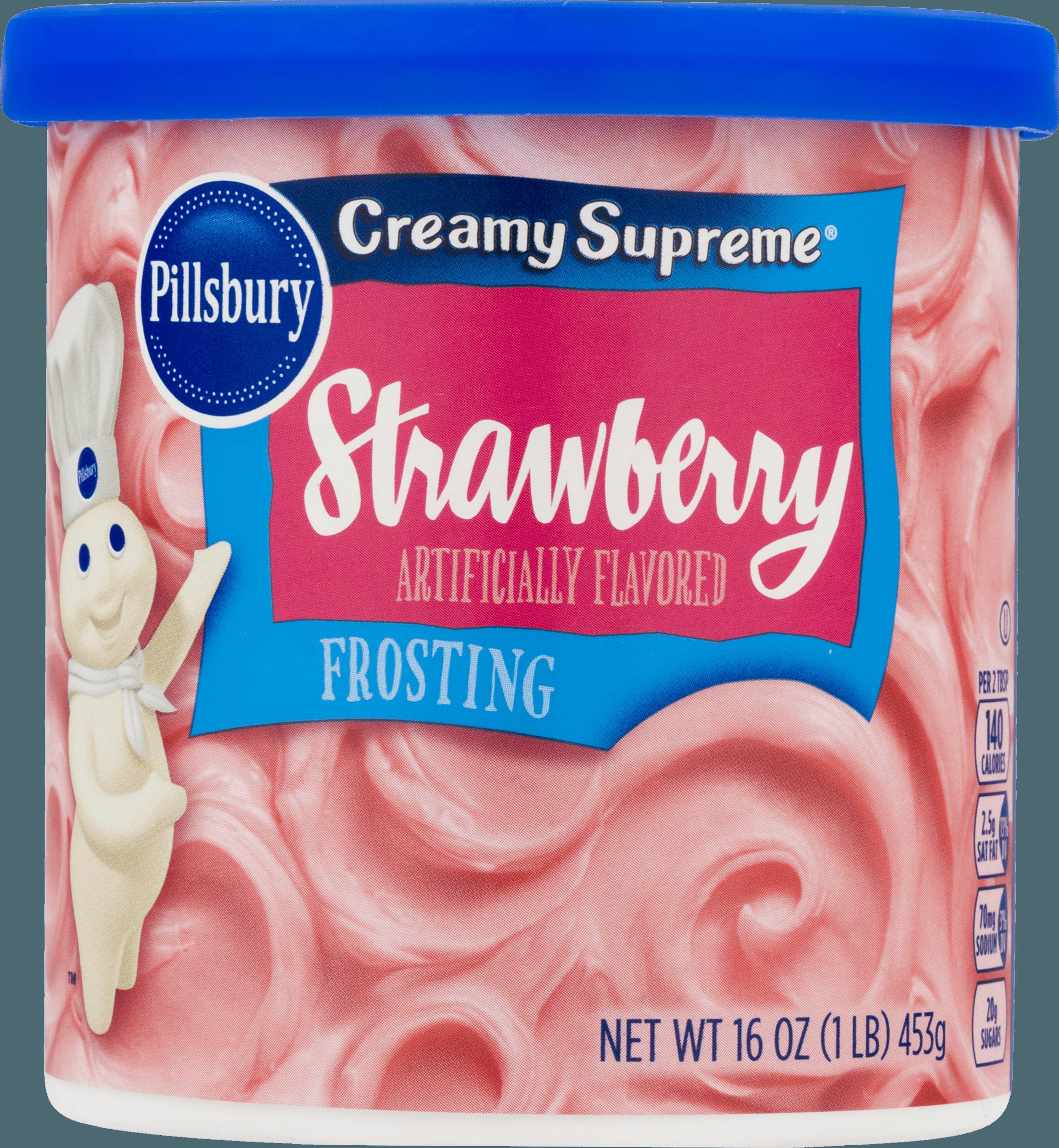 (4 Pack) Pillsbury Creamy Supreme Strawberry Flavored Frosting, 16 Oz