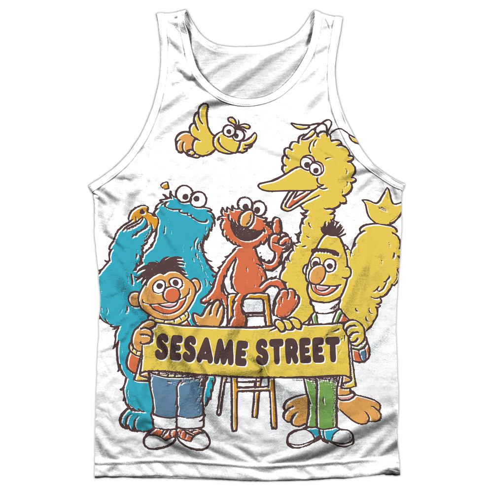 Sesame Street - Block Party (Front/Back Print) - Tank Top - Small