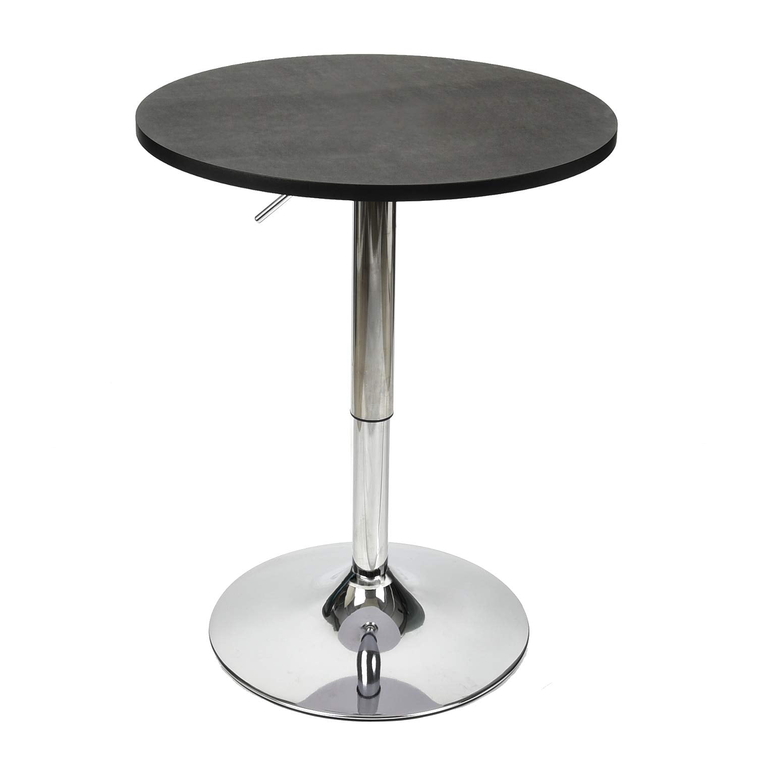 Elecwish 35 Inches Height Modern Round Bar Table Adjustable Height Chrome Metal And Wood Cocktail Dinner Pub Table Mdf Top 360 Swivel Furniture Walmart Com Walmart Com