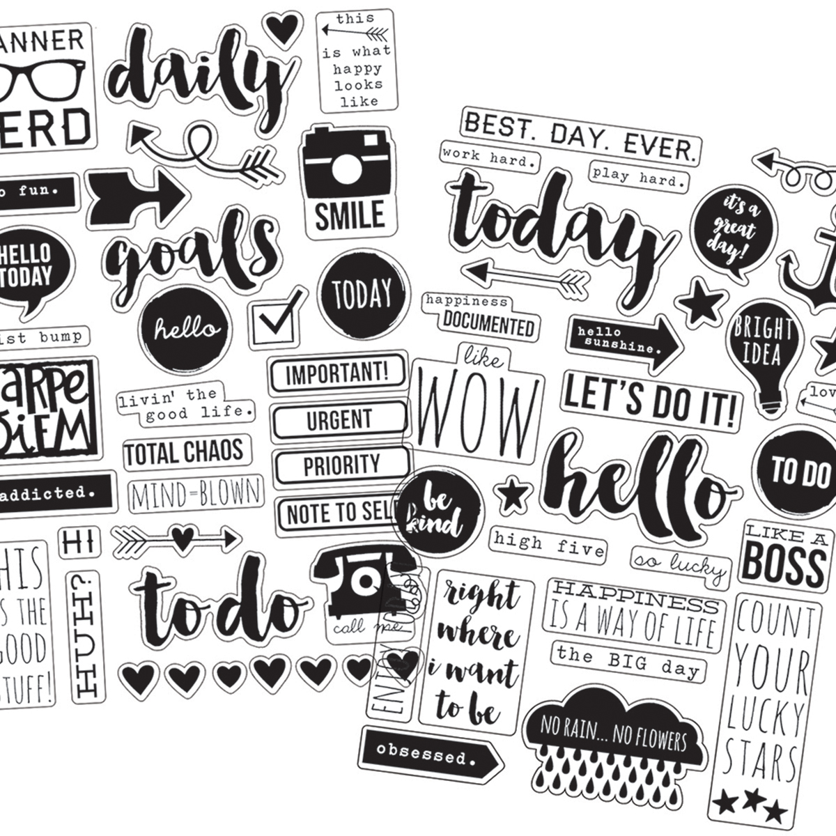 Carpe Diem Clear Stickers 4 Inch X 6 Inch 4/Pkg