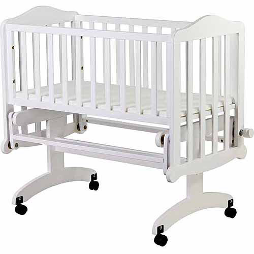 Dream On Me Lullaby Cradle Glider, White