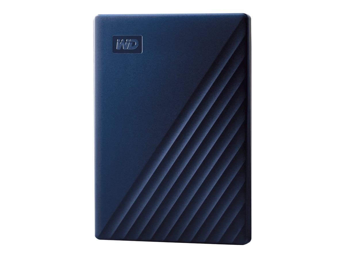 WD My Passport for Mac WDBA2D0020BBL - Hard drive - encrypted - 2 TB - external (portable) - USB 3.2 Gen 1 - 256-bit AES - midnight blue