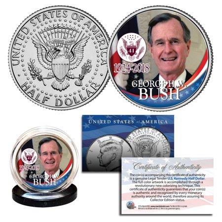 War Commemorative Half Dollars - GEORGE BUSH 41st President 1924-2018 Commemorative Kennedy JFK Half Dollar Coin