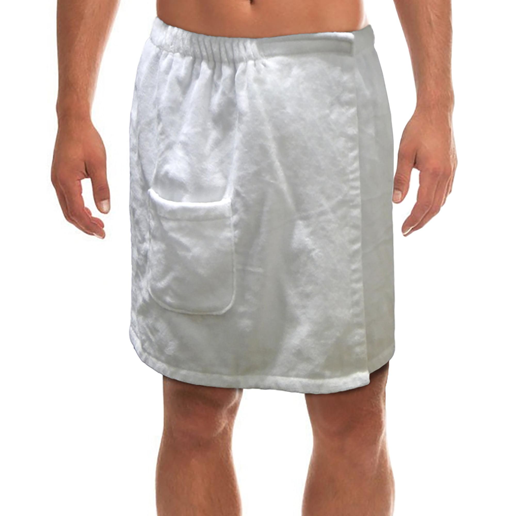 Radiant Saunas Men's Spa & Bath Terry Cloth Towel Wrap - White