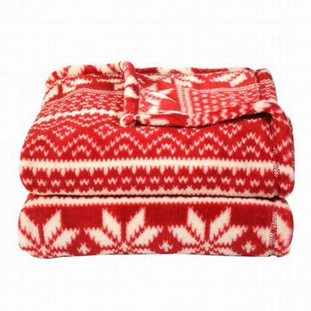 Snowflake Blanket (Soft & Lofty Red Snowflake In A Row Oversized Microplush So Soft Throw)
