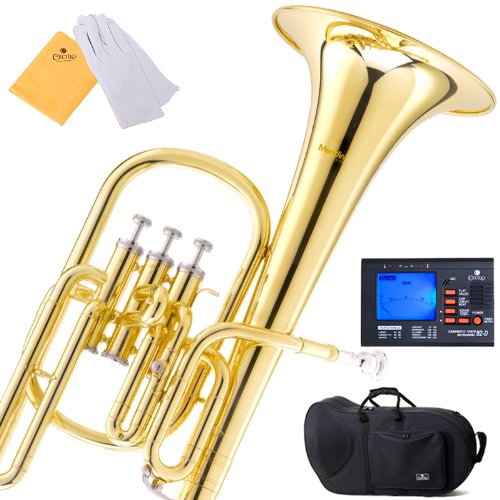 Mendini MAH-L Lacquer E Flat Alto Horn with Stainless Ste...