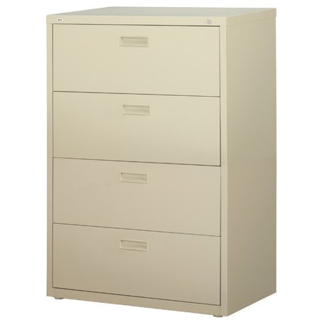 hl1000 series 30 inch wide 4 drawer lateral file cabinet putty. Black Bedroom Furniture Sets. Home Design Ideas