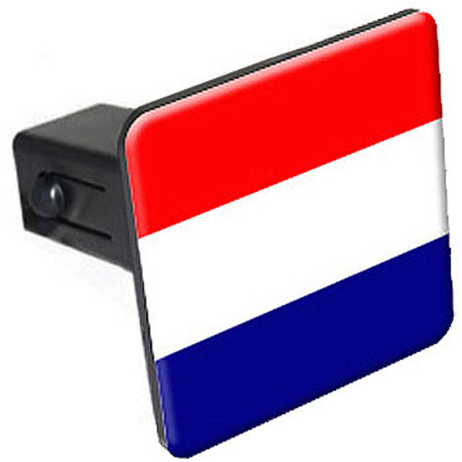 """Netherlands Flag 1.25"""" Tow Trailer Hitch Cover Plug Insert"""