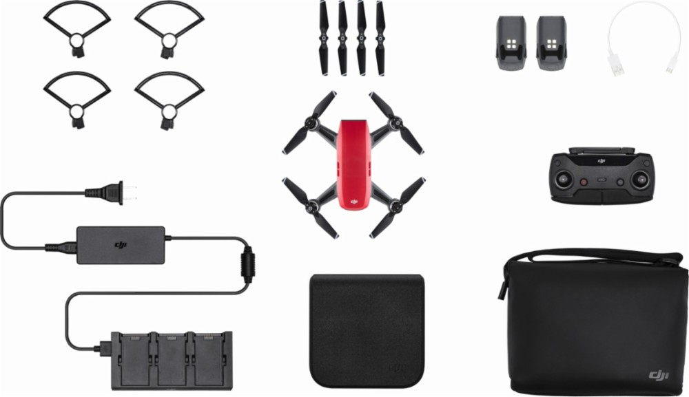 DJI Spark Fly More Combo Drone Alpine White by DJI